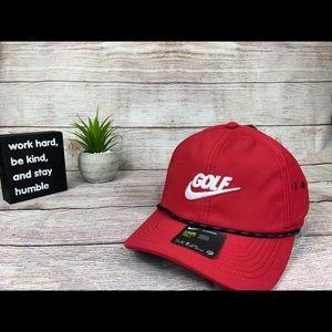 Nike Golf Dri-Fit Red Strapback Hat Cap Unisex